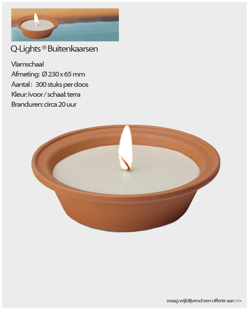 Verrassend Q-Lights ® Vlamschaal - NVN kaarsen FV-65