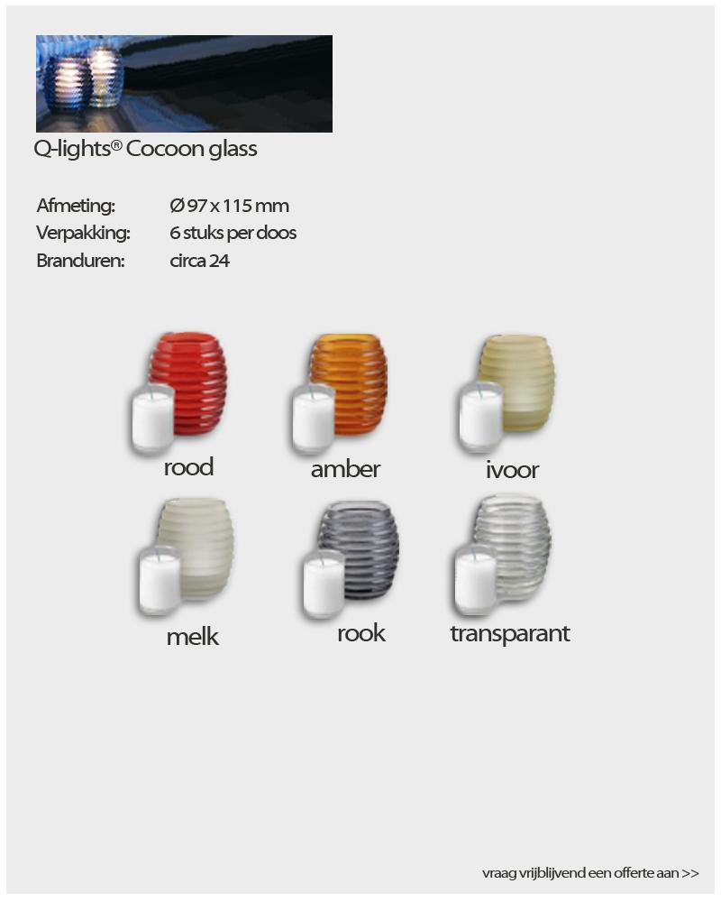Q-Lights ® Cocoon glasses van NVN Kaarsen