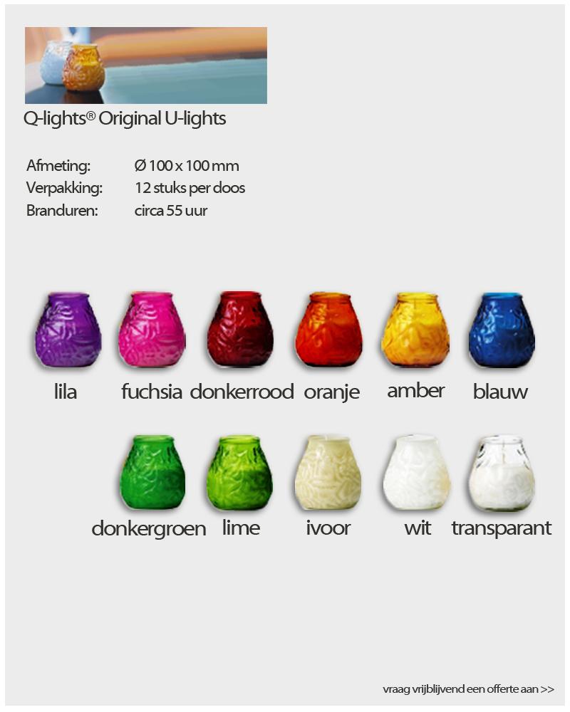 Q-Lights ® Original U-Lights van NVN Kaarsen