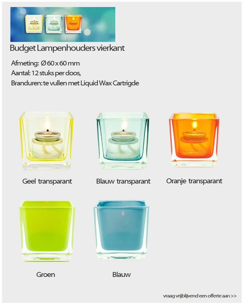 Budget Lampenhouders vierkant