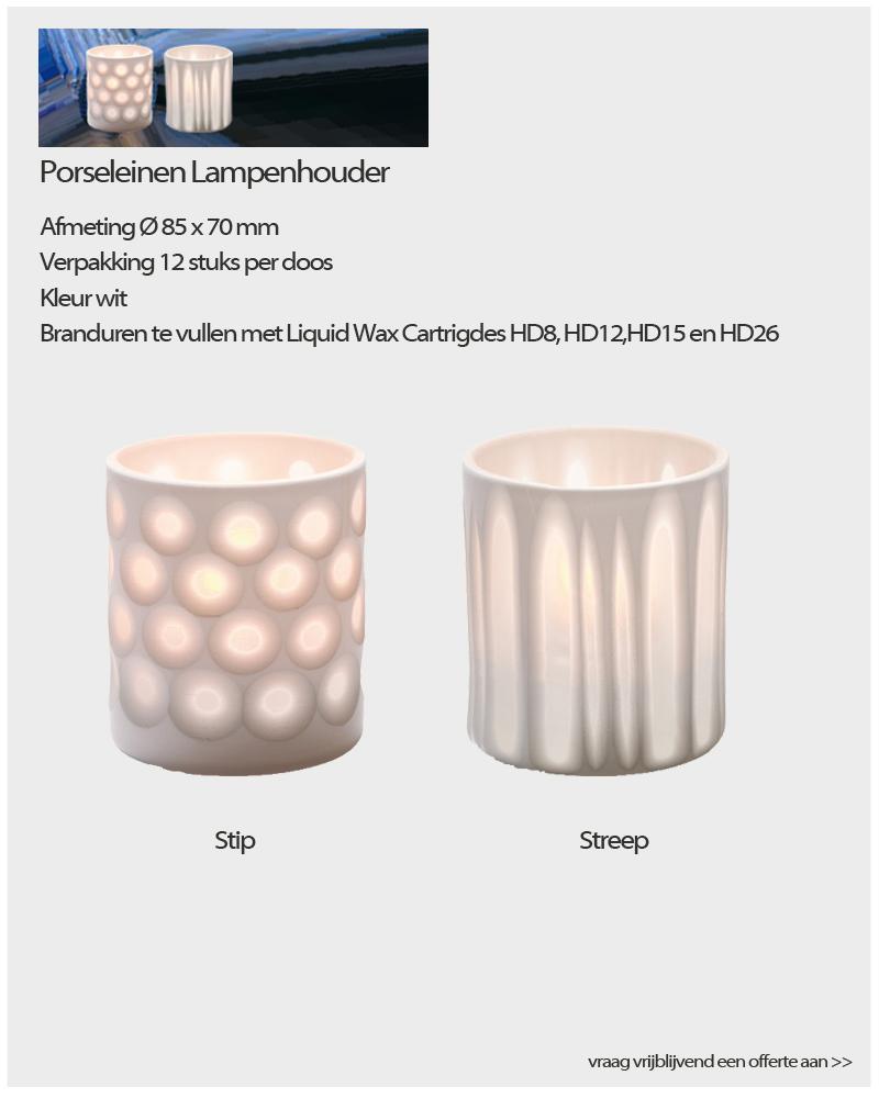 Porseleinen lampenhouder NVN Kaarsen
